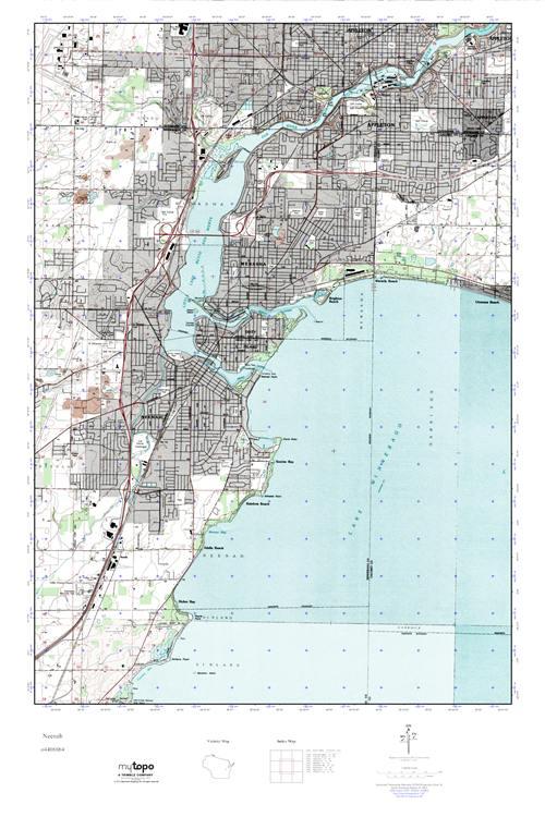 Mytopo Neenah Wisconsin Usgs Quad Topo Map