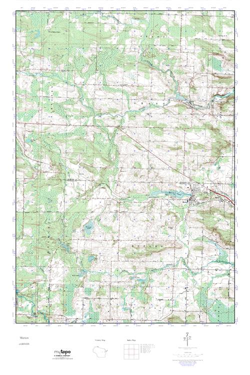 Marion Wisconsin Map.Mytopo Marion Wisconsin Usgs Quad Topo Map