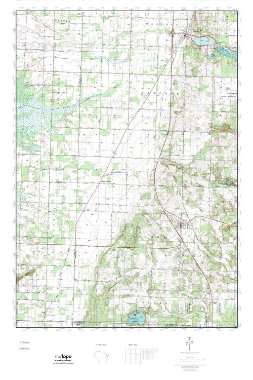 Coloma Wisconsin Map.Mytopo Coloma Wisconsin Usgs Quad Topo Map