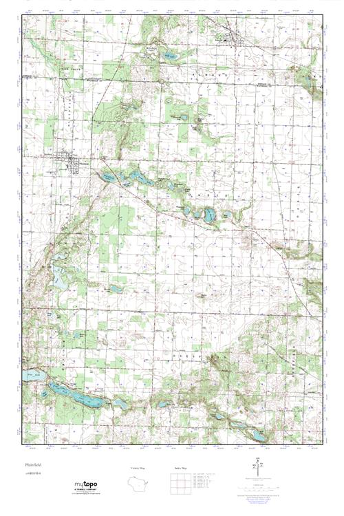 Mytopo Plainfield Wisconsin Usgs Quad Topo Map