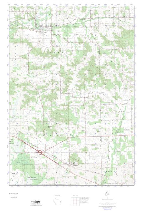 Colfax Wisconsin Map.Mytopo Colfax South Wisconsin Usgs Quad Topo Map