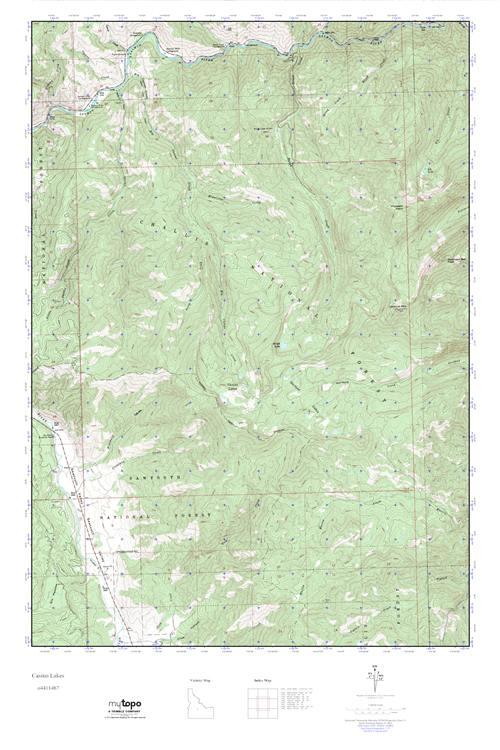 MyTopo Casino Lakes, Idaho USGS Quad Topo Map