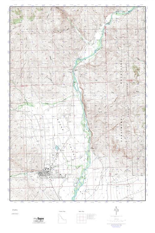 Mytopo Challis Idaho Usgs Quad Topo Map