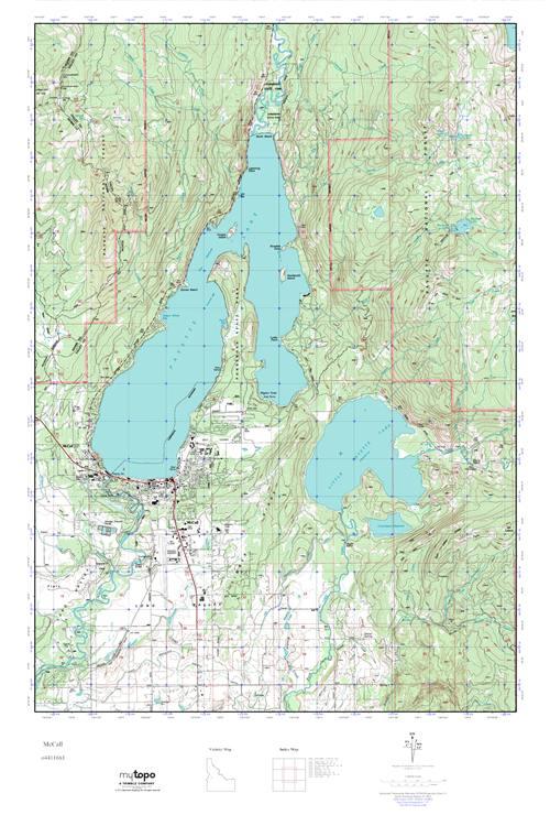 MyTopo McCall, Idaho USGS Quad Topo Map