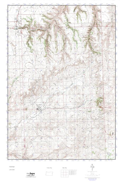 Mytopo Antelope Oregon Usgs Quad Topo Map