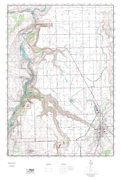 Mytopo Madras West Oregon Usgs Quad Topo Map