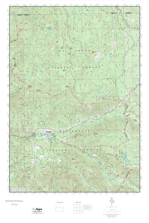 Mytopo Breitenbush Hot Springs Oregon Usgs Quad Topo Map