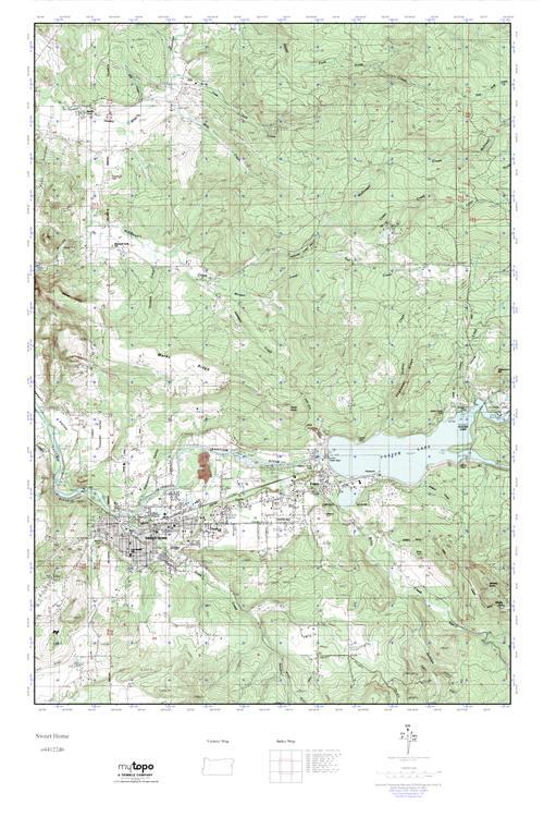 Mytopo Sweet Home Oregon Usgs Quad Topo Map