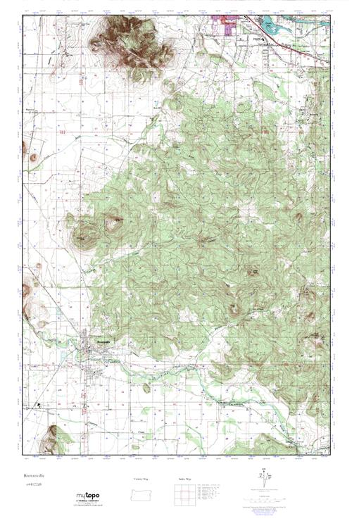 MyTopo Brownsville Oregon USGS Quad Topo Map