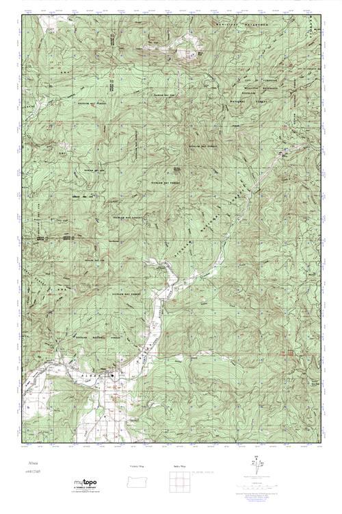 Alsea Oregon Map.Mytopo Alsea Oregon Usgs Quad Topo Map