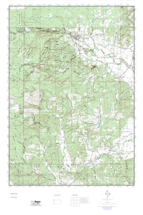 Fall City Oregon Map.Mytopo Falls City Oregon Usgs Quad Topo Map