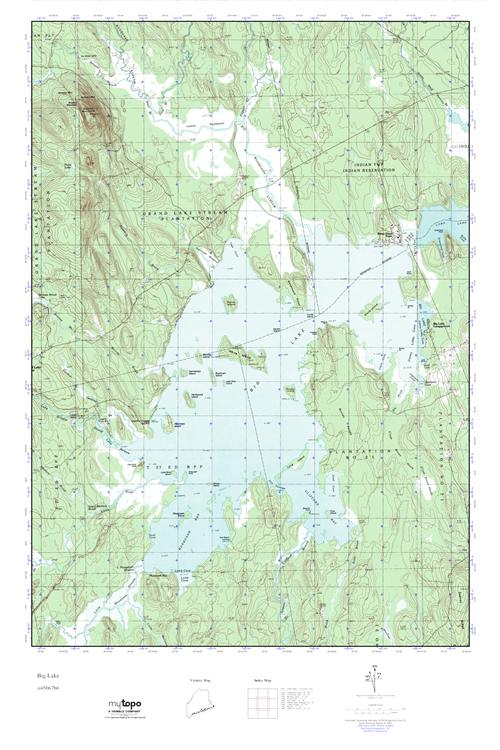 Mytopo Big Lake Maine Usgs Quad Topo Map