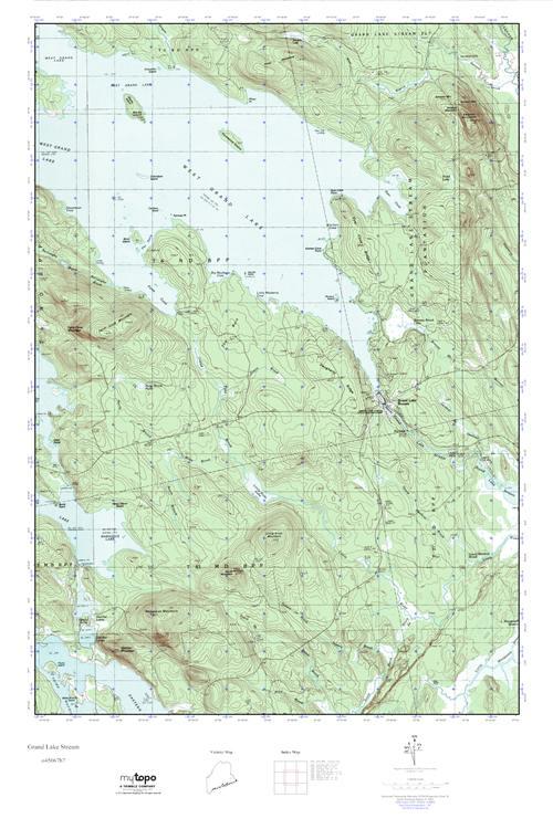 Grand Lake Stream Maine Map.Mytopo Grand Lake Stream Maine Usgs Quad Topo Map