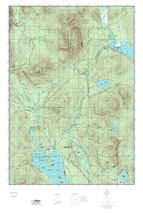 Topo Map Of Maine.Mytopo Kennebago Maine Usgs Quad Topo Map