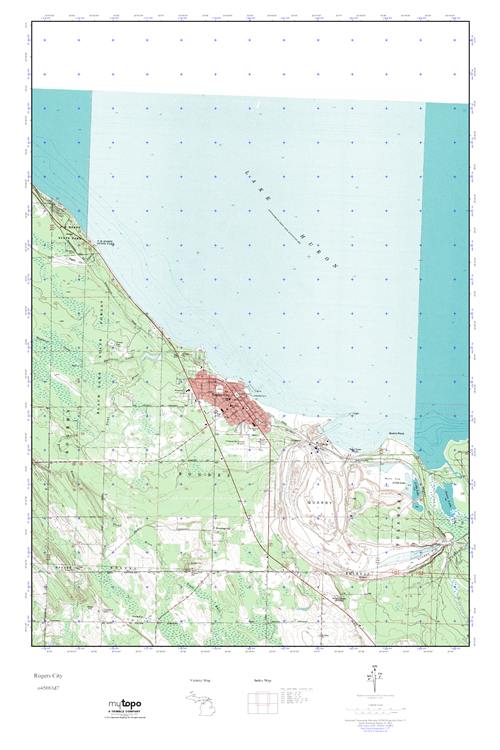 Mytopo Rogers City Michigan Usgs Quad Topo Map