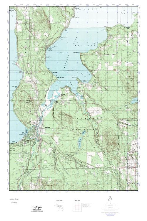 Mytopo Indian River Michigan Usgs Quad Topo Map