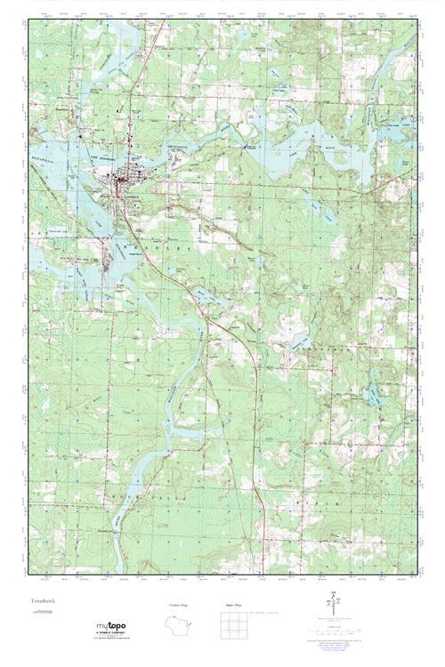 Tomahawk Wisconsin Map.Mytopo Tomahawk Wisconsin Usgs Quad Topo Map
