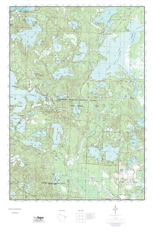 Tomahawk Wisconsin Map.Mytopo Lake Tomahawk Wisconsin Usgs Quad Topo Map