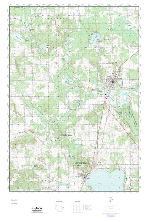Mytopo Spooner Wisconsin Usgs Quad Topo Map