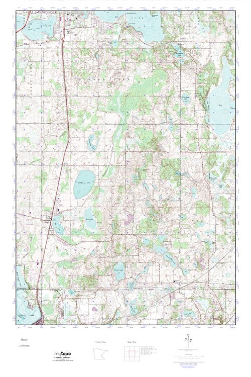 Hugo Minnesota Map.Mytopo Hugo Minnesota Usgs Quad Topo Map