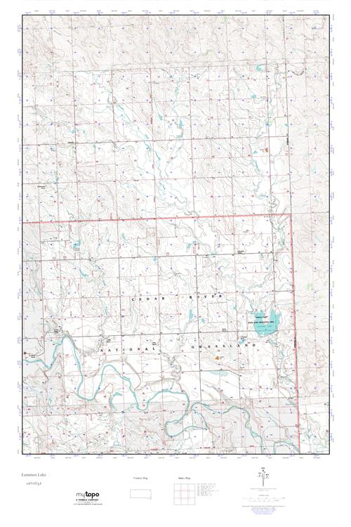 MyTopo Lemmon Lake South Dakota USGS Quad Topo Map