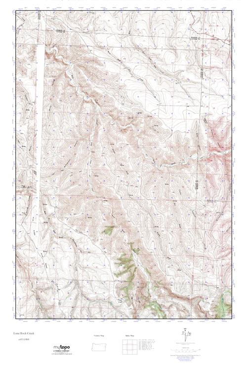 Mytopo Lone Rock Creek Oregon Usgs Quad Topo Map