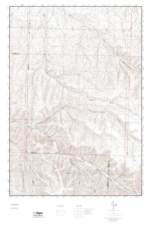 Mytopo Echo Sw Oregon Usgs Quad Topo Map