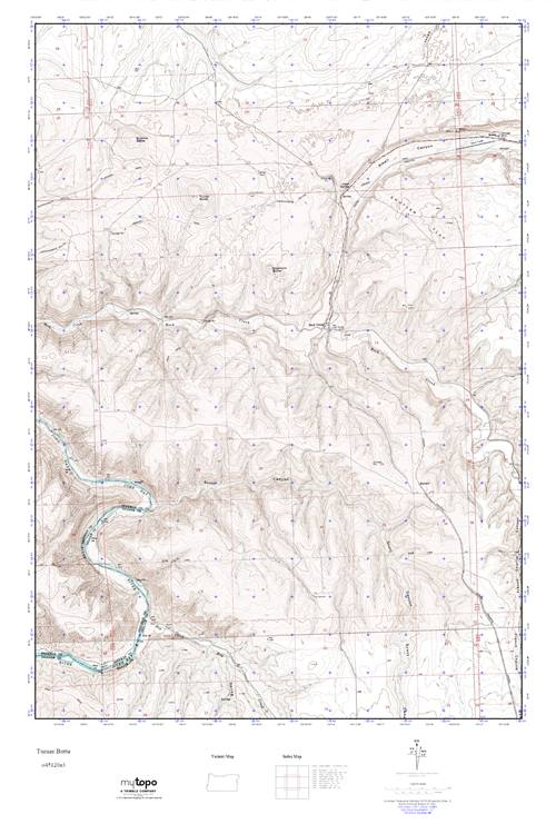 Mytopo Turner Butte Oregon Usgs Quad Topo Map
