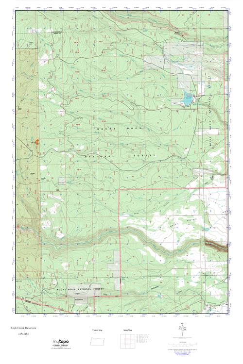 Mytopo Rock Creek Reservoir Oregon Usgs Quad Topo Map