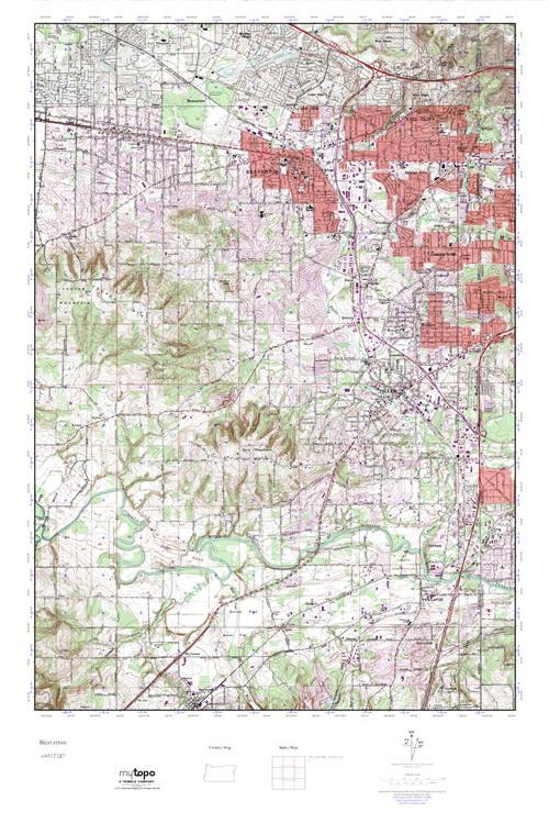 Mytopo Beaverton Oregon Usgs Quad Topo Map