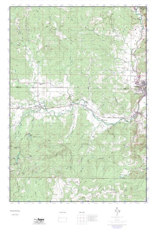 Grand Ronde Oregon Map.Mytopo Grand Ronde Oregon Usgs Quad Topo Map