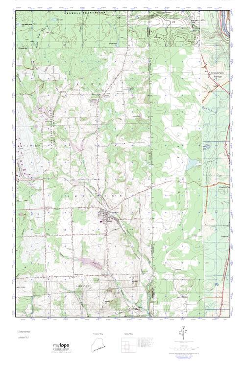 Mytopo Limestone Maine Usgs Quad Topo Map