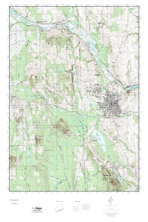Mytopo Presque Isle Maine Usgs Quad Topo Map