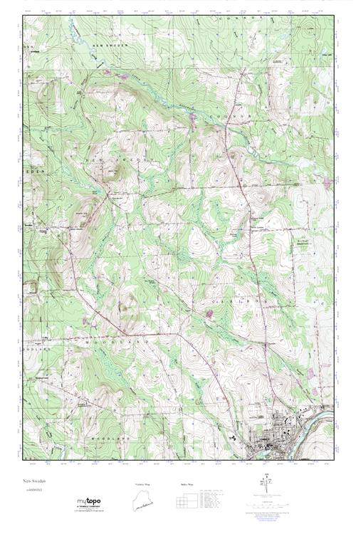 MyTopo New Sweden Maine USGS Quad Topo Map - Sweden maine map