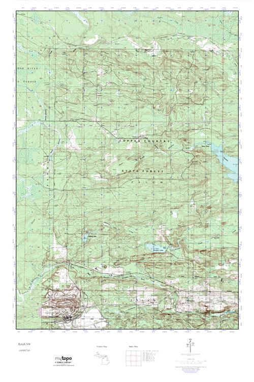 Mytopo Ralph Sw Michigan Usgs Quad Topo Map