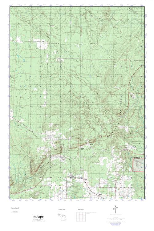 MyTopo Greenland, Michigan USGS Quad Topo Map