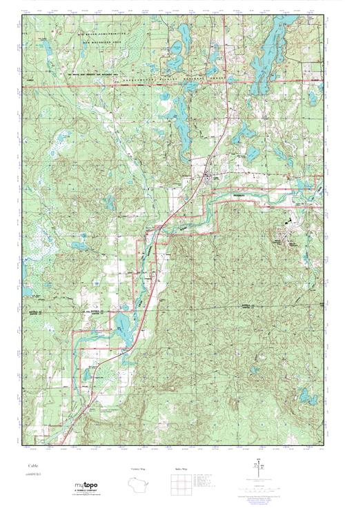 Mytopo Cable Wisconsin Usgs Quad Topo Map