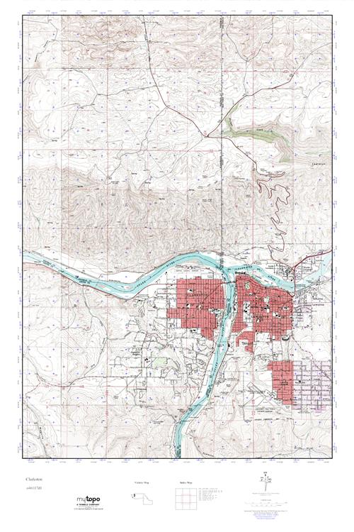 Mytopo Clarkston Washington Usgs Quad Topo Map