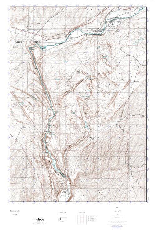 Palouse Falls Washington Map.Mytopo Palouse Falls Washington Usgs Quad Topo Map