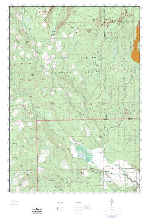 Mytopo Trout Lake Washington Usgs Quad Topo Map