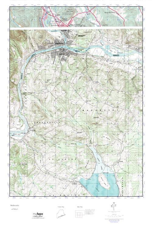 Mytopo Madawaska Maine Usgs Quad Topo Map