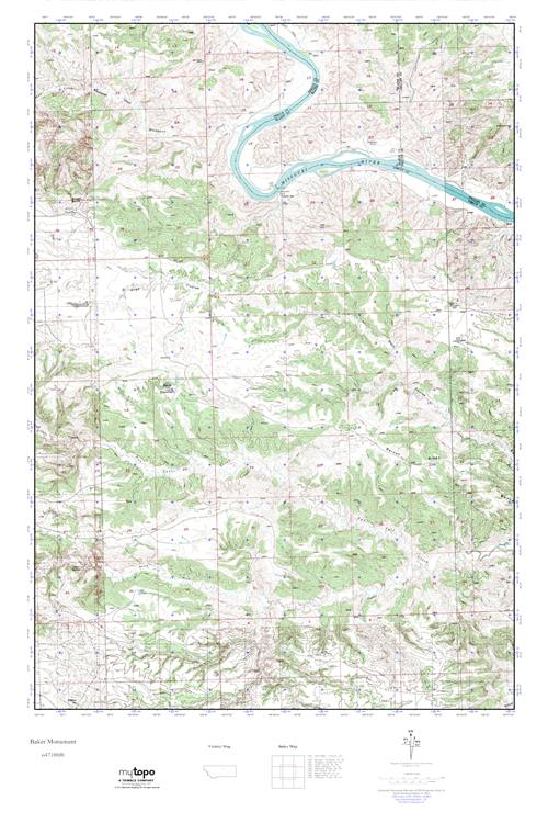 Mytopo Baker Monument Montana Usgs Quad Topo Map