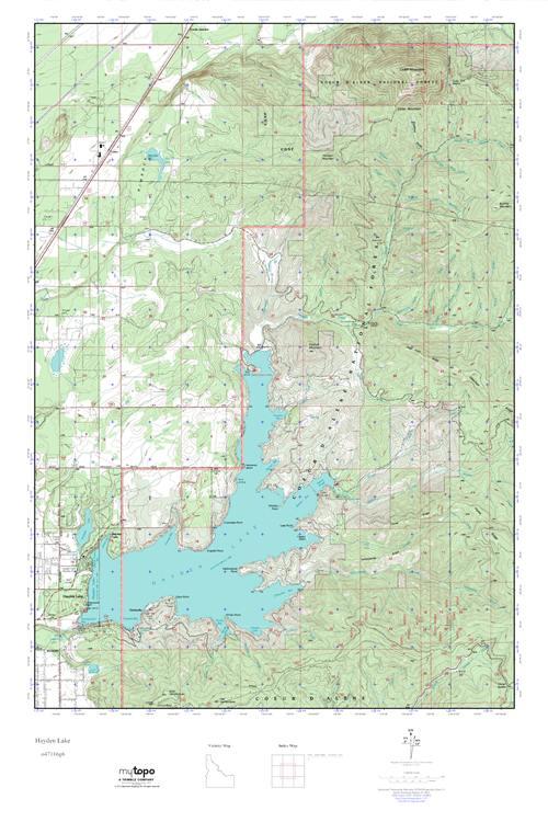 Mytopo Hayden Lake Idaho Usgs Quad Topo Map