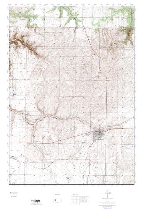 Davenport Washington Map.Mytopo Davenport Washington Usgs Quad Topo Map