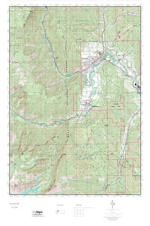 MyTopo Leavenworth, Washington USGS Quad Topo Map
