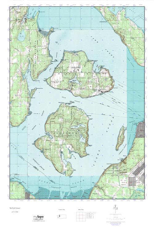Mcneil Island Map MyTopo McNeil Island, Washington USGS Quad Topo Map