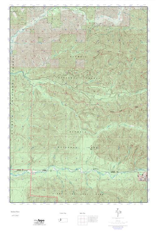 MyTopo Indian Pass, Washington USGS Quad Topo Map