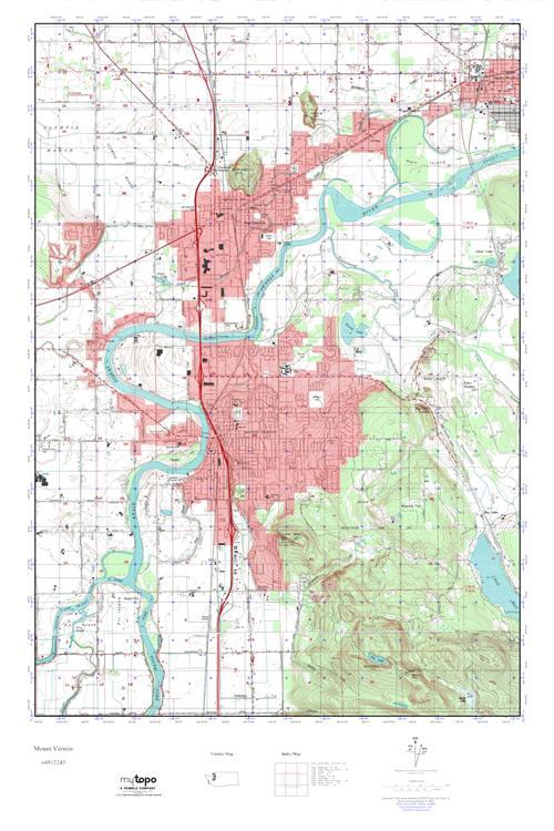 Mt Vernon Washington Map.Mytopo Mount Vernon Washington Usgs Quad Topo Map