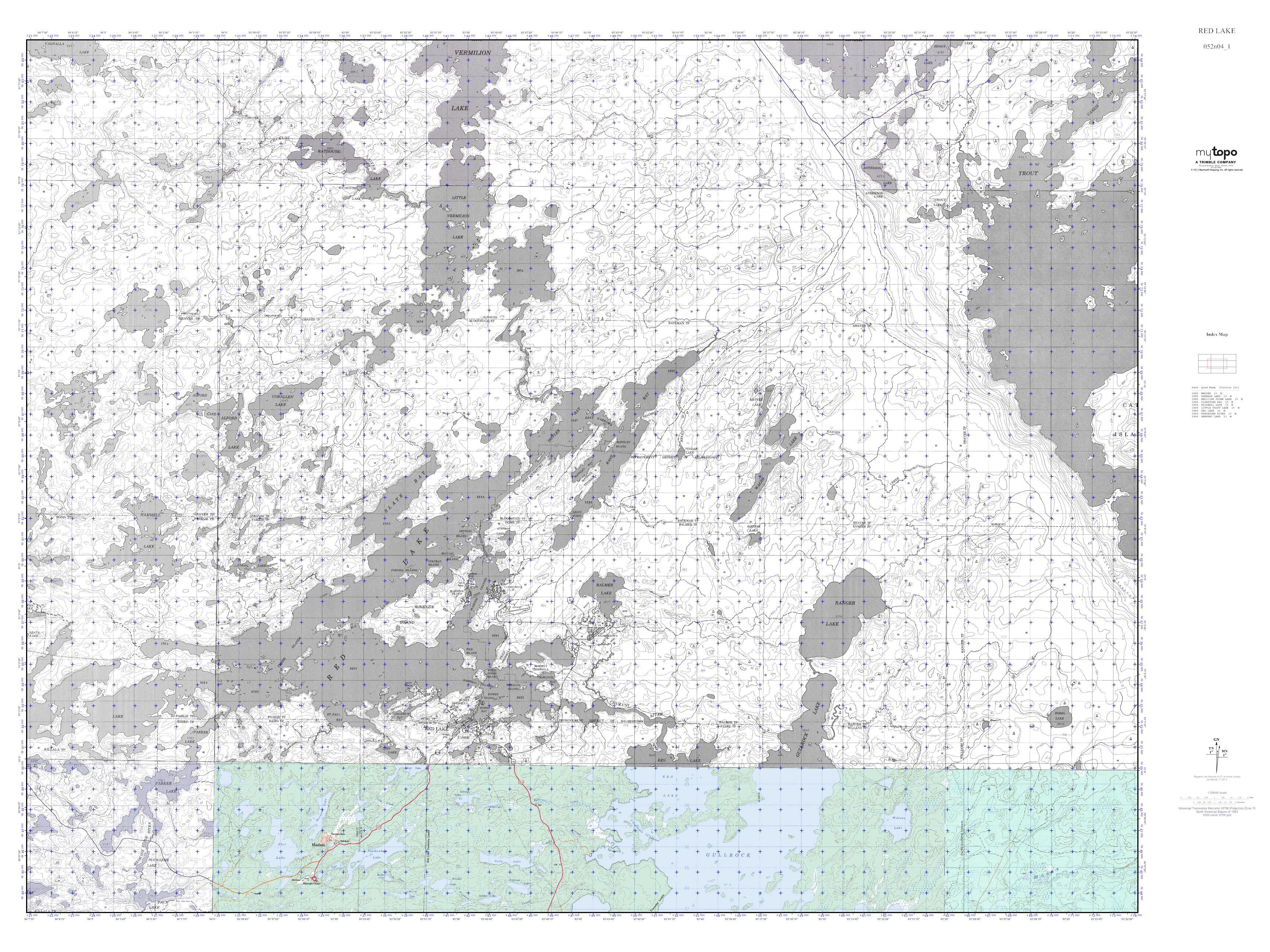 Ontario Topographic Map.Mytopo Red Lake Ontario Usgs Quad Topo Map