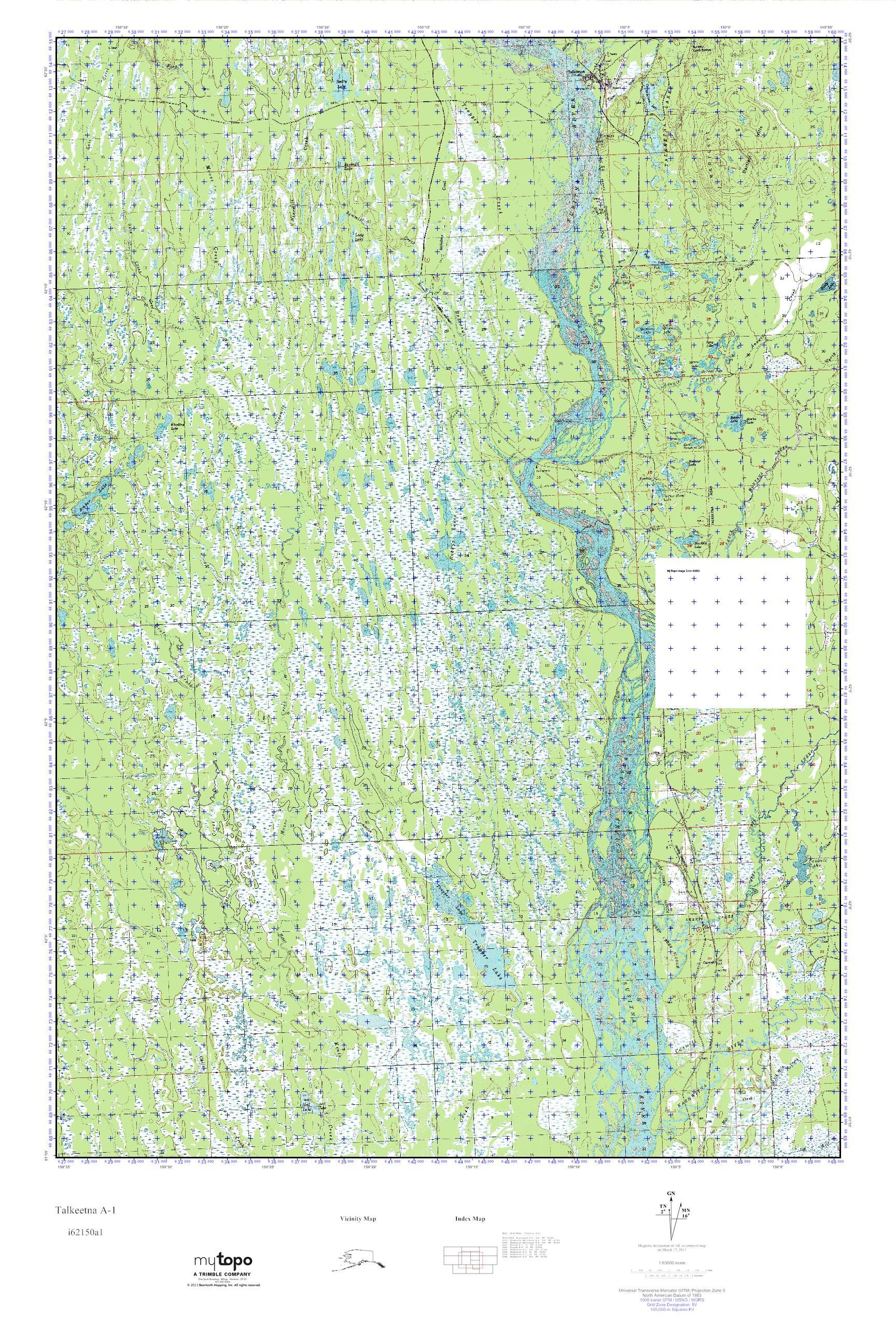 MyTopo Talkeetna A-1, Alaska USGS Quad Topo Map